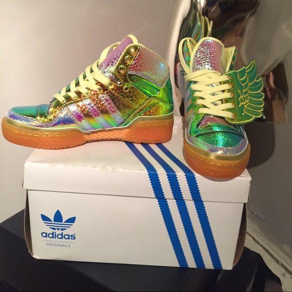 7d5826233735 Jeremy Scott adidas JS FOIL WING ADIDAS size 5 (BIG KIDS) ladies 6.5-7  Jeremy Scott x Adidas Shoes Athletic Shoes