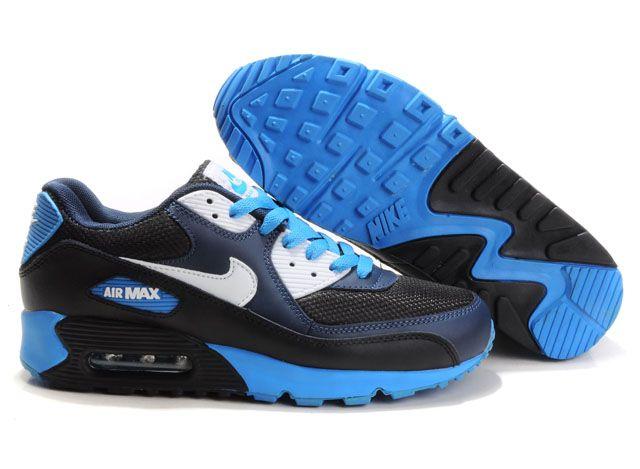 nike air max blauw zwart wit