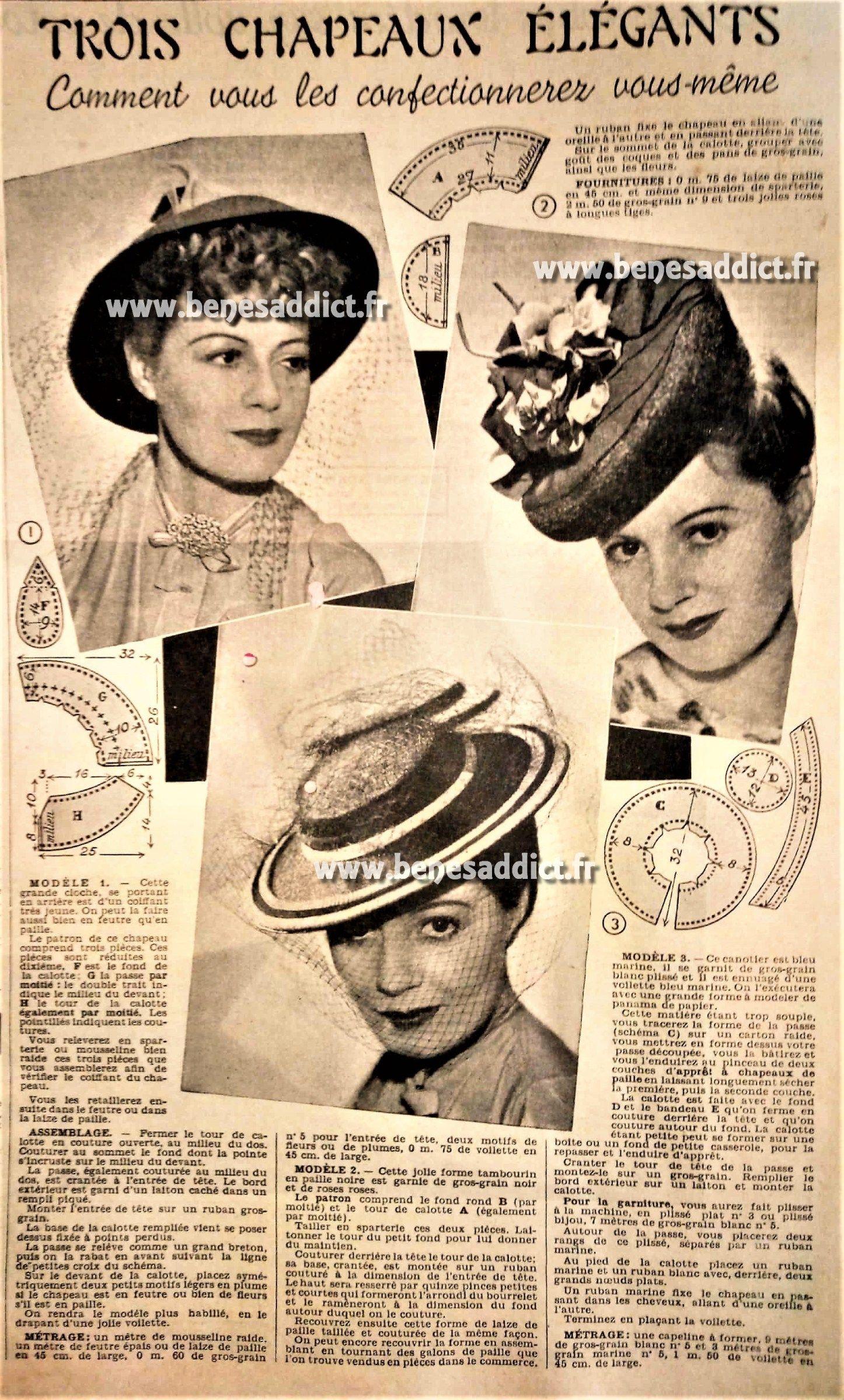gratuit 40 superbes patrons de couture vintage 1938 1941