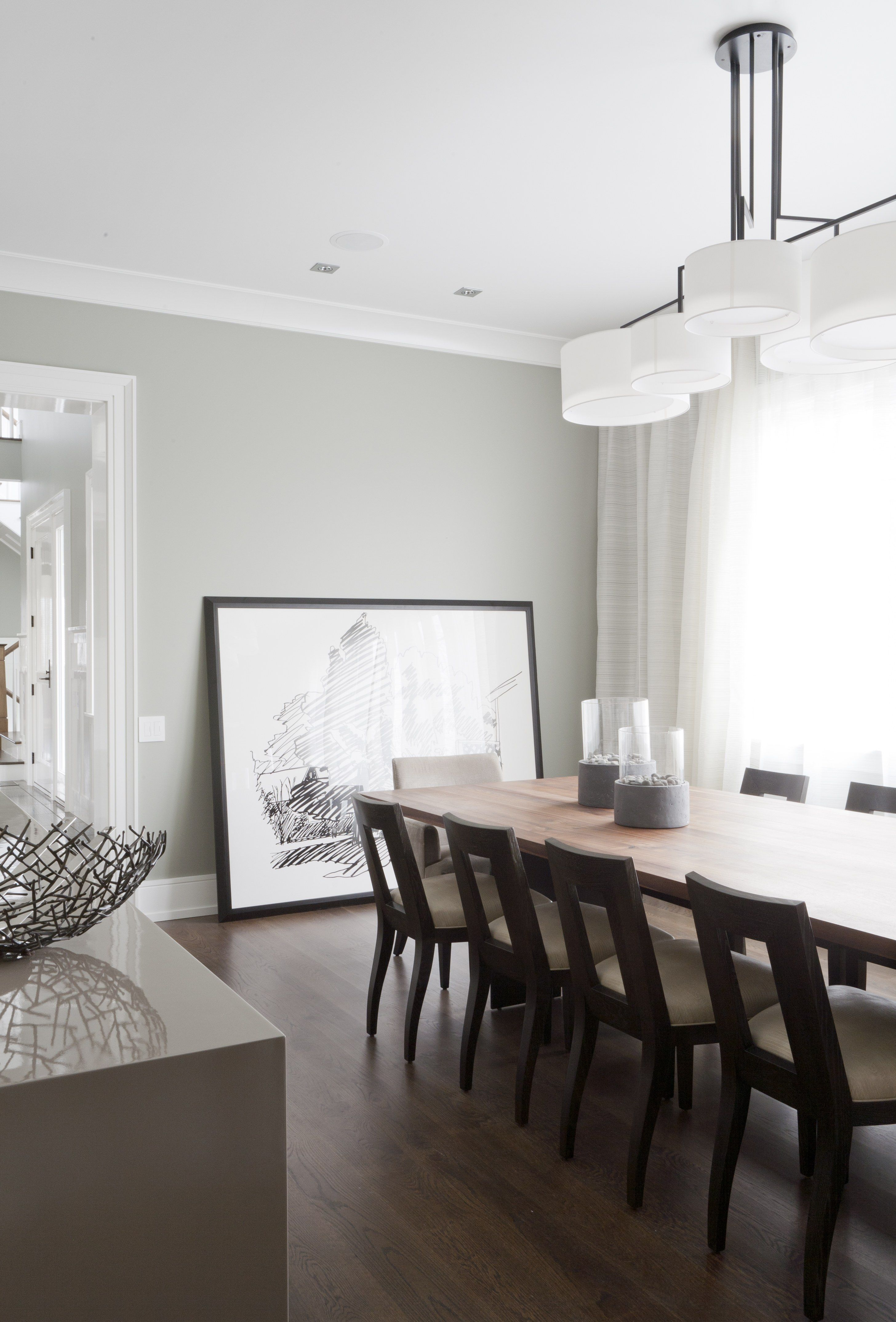 Dont use flat paint the walls are painted sherwin williams repose gray with a low luster eggshell finish it has a little sheen to it which gives the