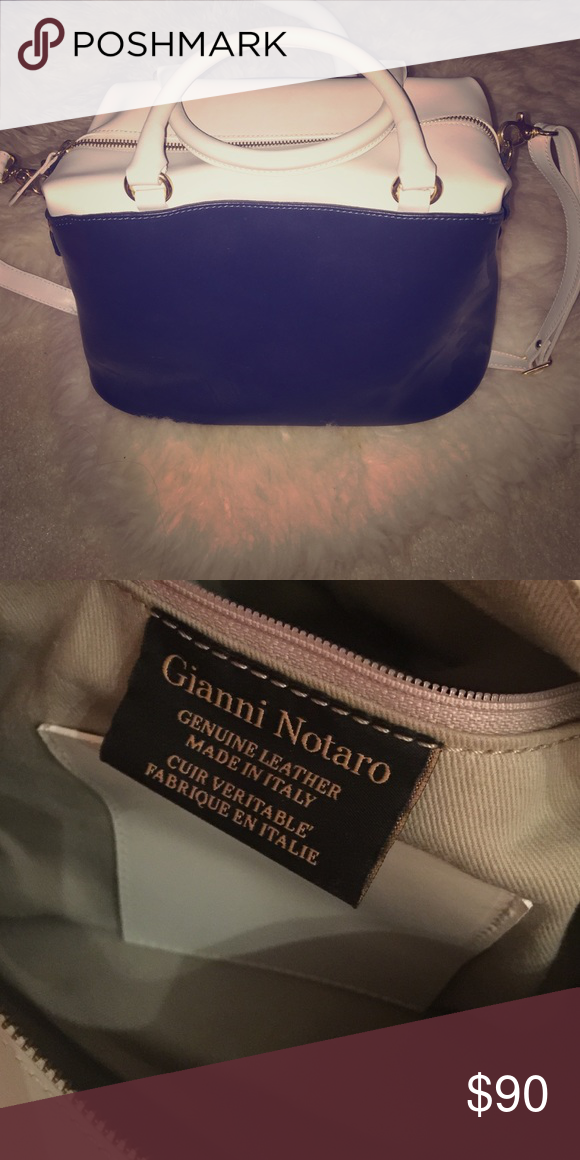 8dd6b12df1 Handbag by Gianni Notaro Genuine leather handbag by designer Gianni Notaro.  Has gold detailing and