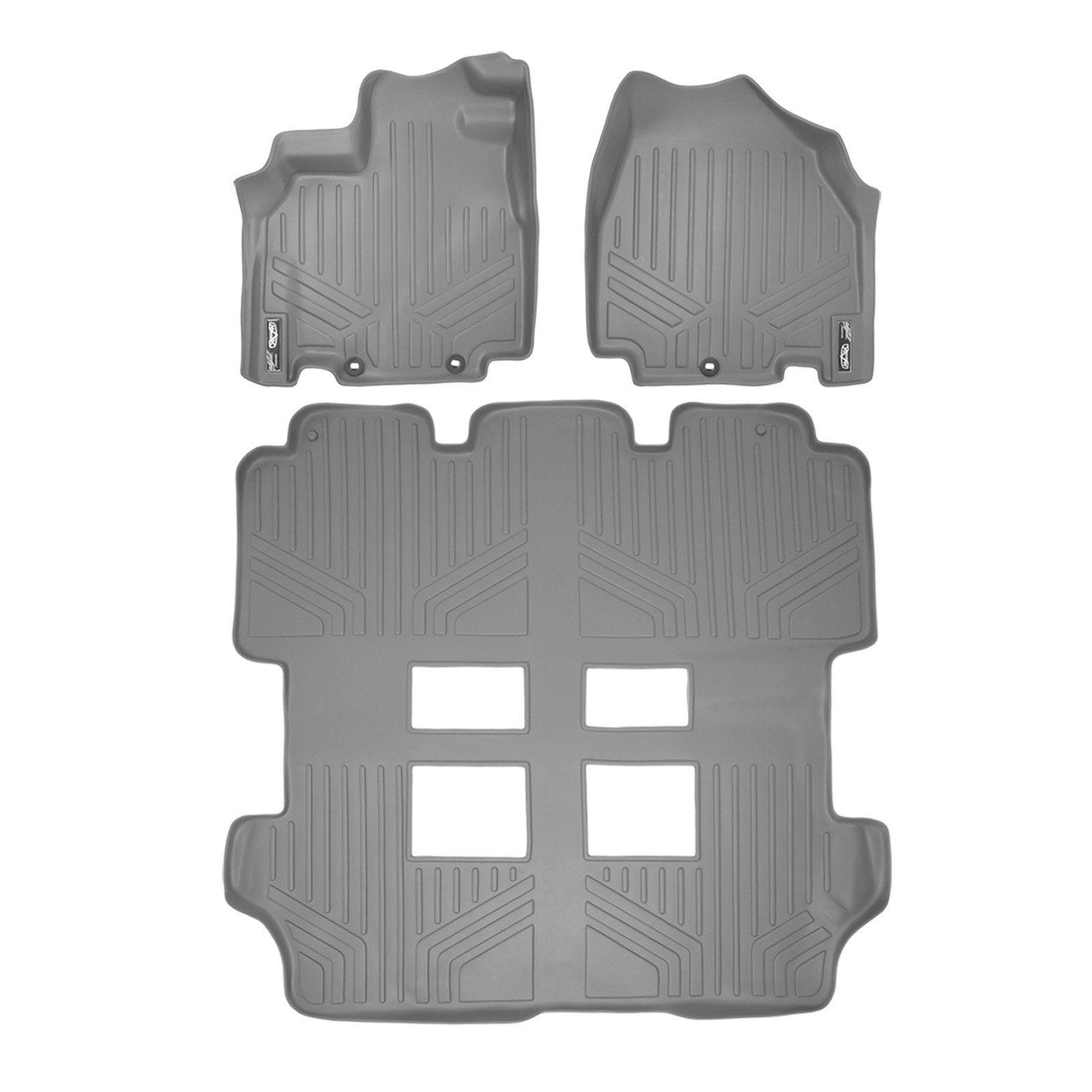 Maxliner Floor Mats 3 Row Liner Set Grey For 2011 2017 Honda