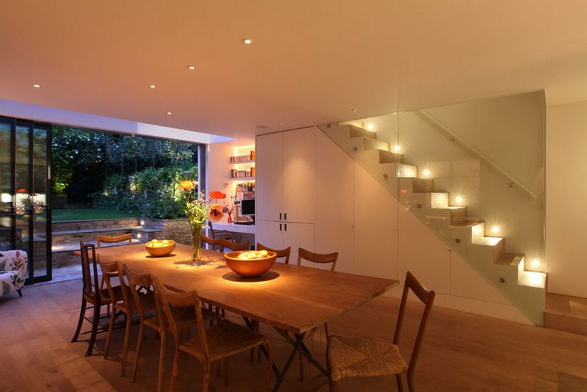 Dining Room Design Ideas With Soft Lighting And Wood Table Utilize Your