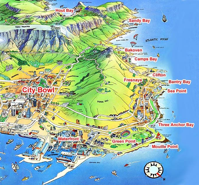 Map Of The West Coast Cape Town Google Search