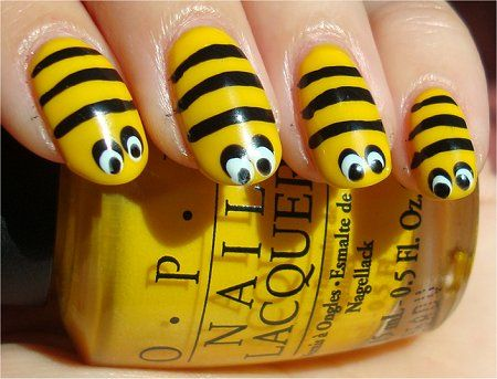 Nail Art Bee Tutorial Pictures