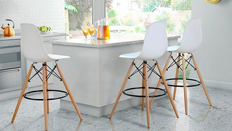 tabouret de bar dsw charles eames style polypropyl ne. Black Bedroom Furniture Sets. Home Design Ideas