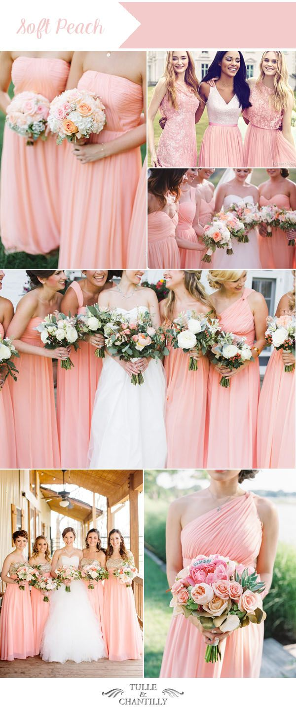 Soft Peach Bridesmaid Dresses Colors For Summer Weddings Peach Bridesmaid Dresses Summer Bridesmaid Dresses Peach Bridesmaid [ 1446 x 600 Pixel ]