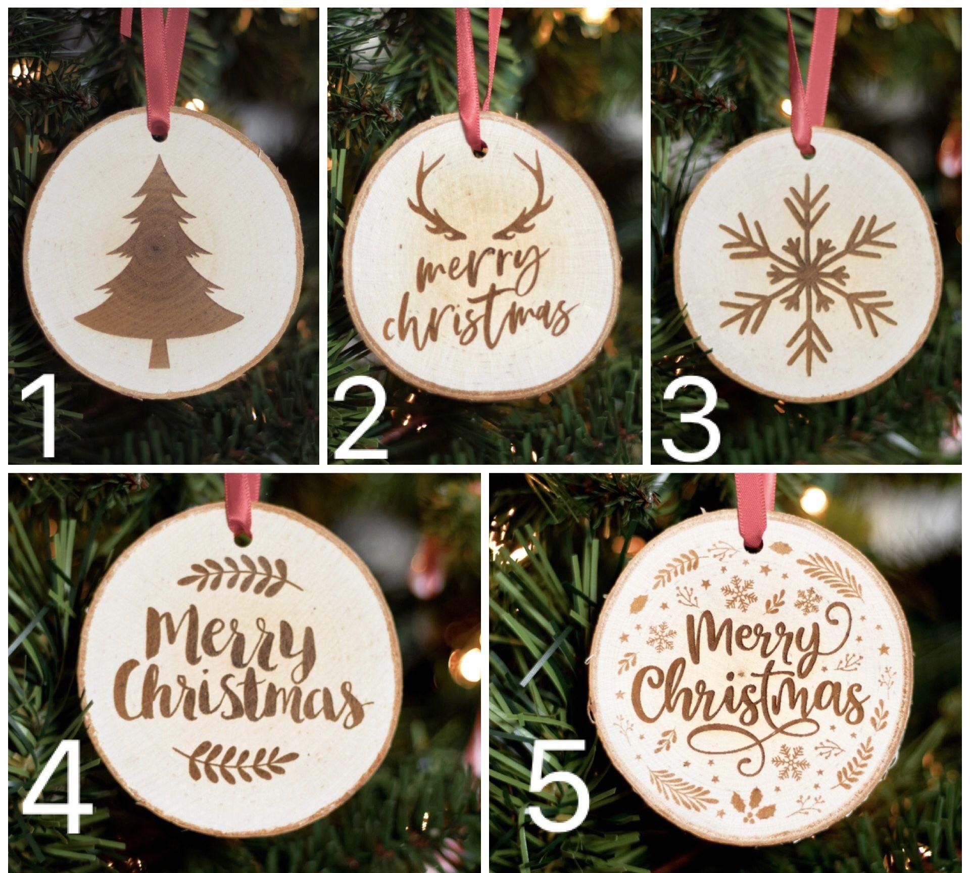 Real Wood Slice Christmas Ornaments Christmas Tree Ornaments Rustic Christmas Ornamen Christmas Ornaments Rustic Christmas Ornaments Wood Christmas Ornaments