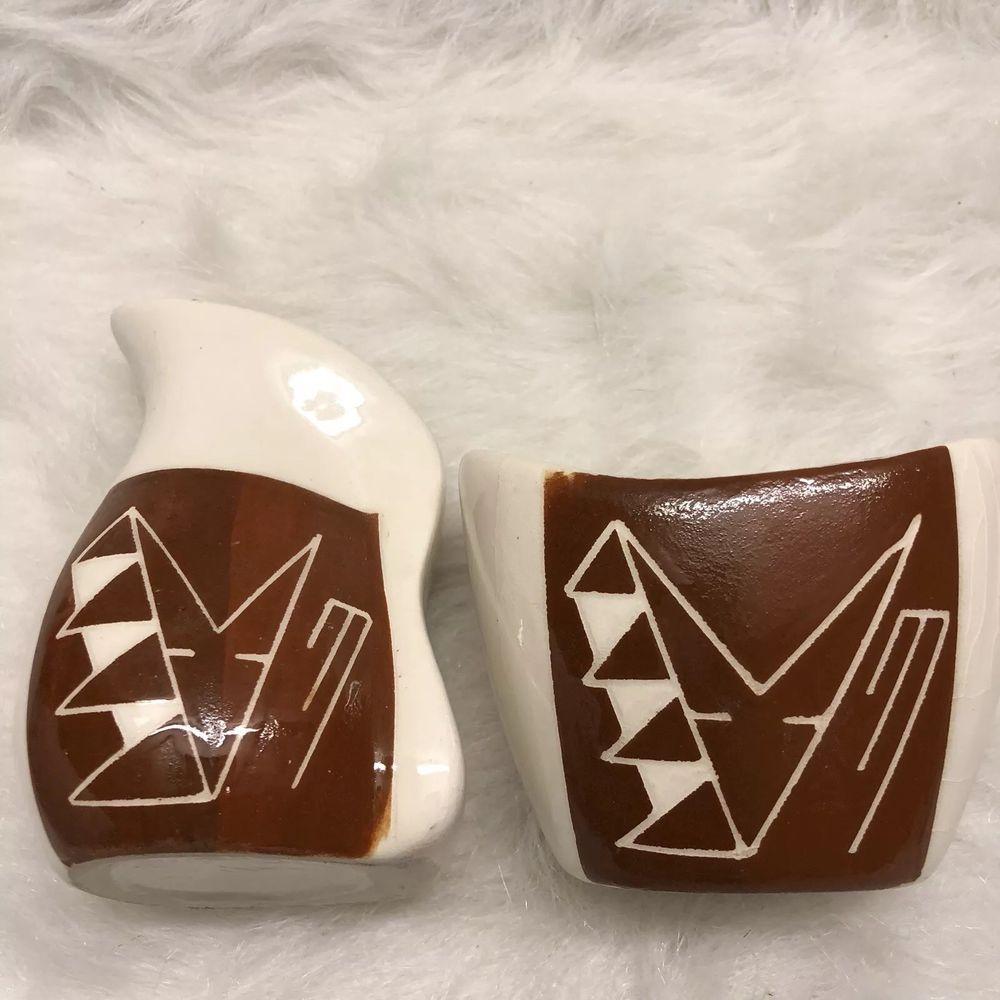 Native american cream sugar set pottery art ebay
