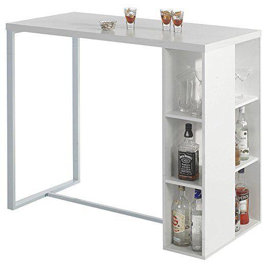 bartisch bartresen stehtisch ibiza mdf in wei mit. Black Bedroom Furniture Sets. Home Design Ideas