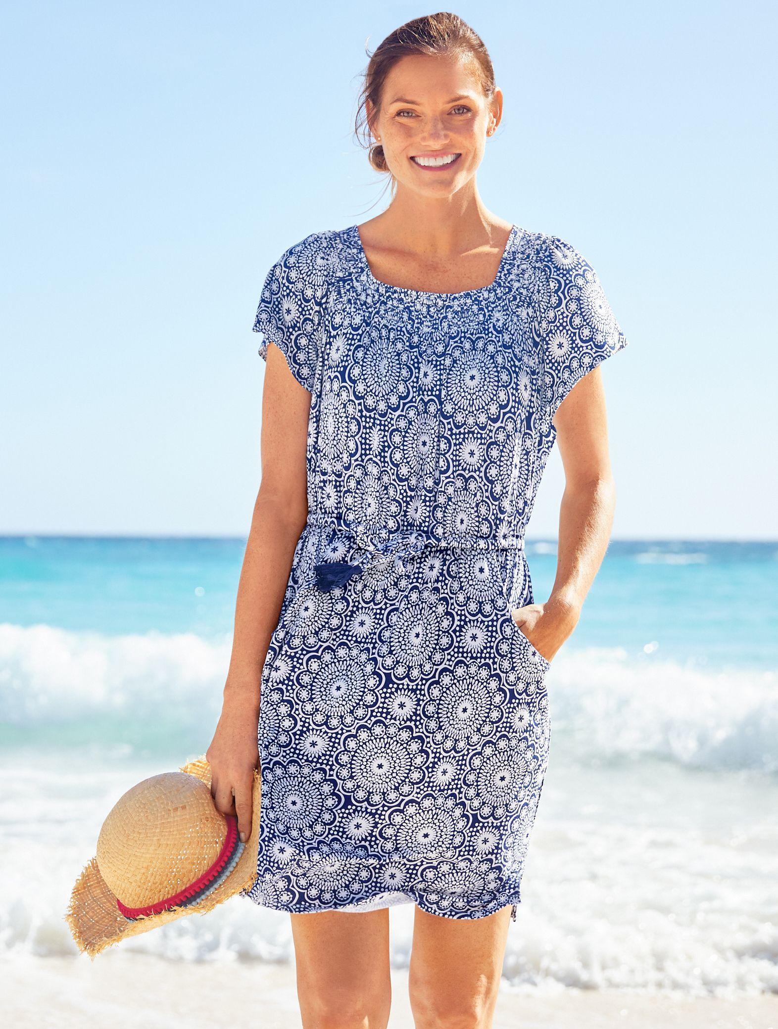 b830337a799f1 A beautifully patterned beach cover-up for every warm-weather season. Dive  into Talbots to see more styles & colors. | Talbots