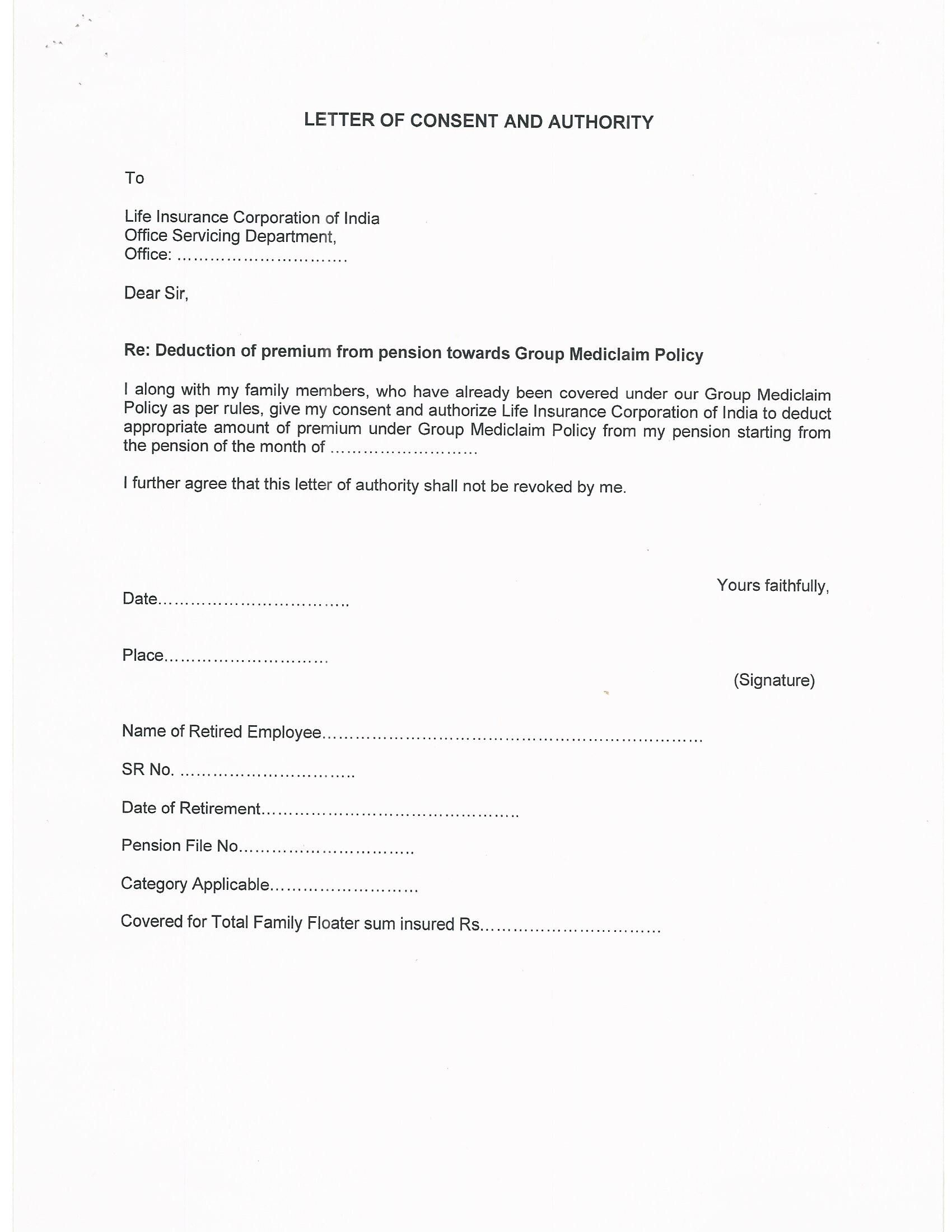 authorization letter claim tax refund for sample printable
