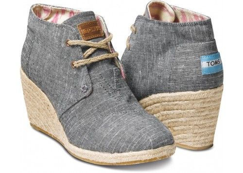 7f3fe2204a9 Black Chambray Women s Desert Wedges