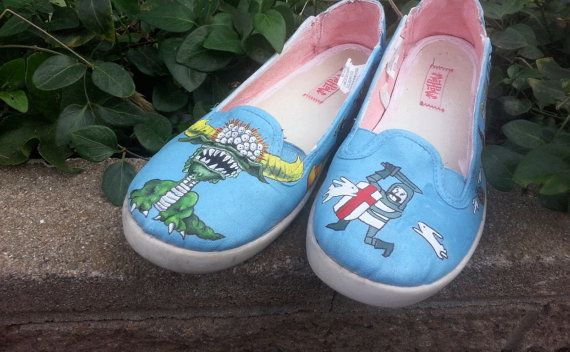 0cc10d01083dd Monty Python and the Holy Grail Custom Hand-Painted Shoes - features ...