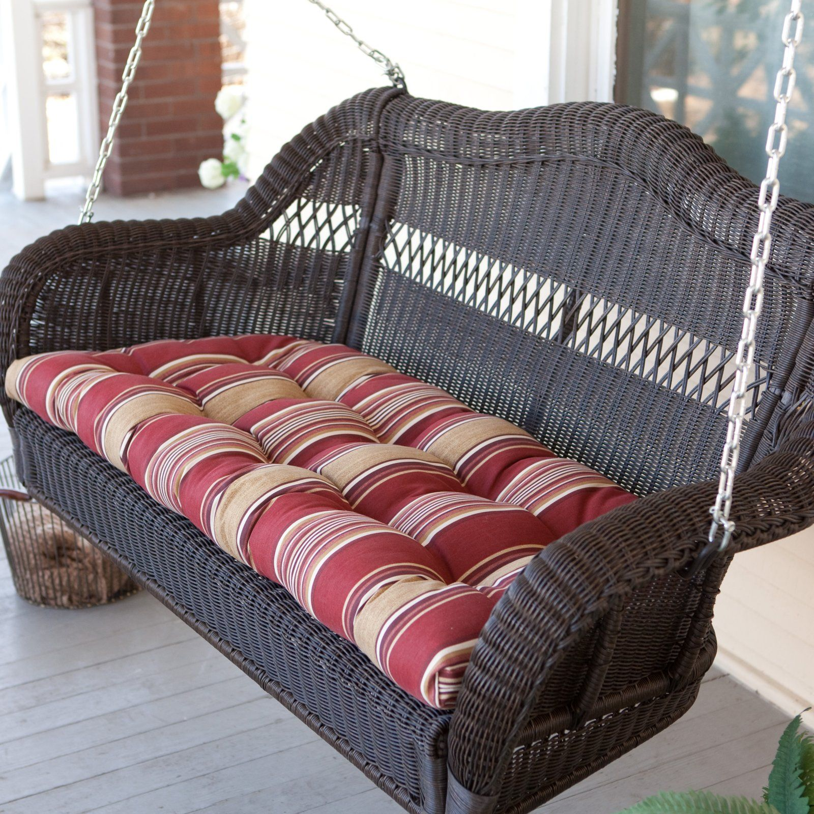 Casco Bay Resin Wicker Porch Swing   Wicker Chairs U0026 Seating At Hayneedle