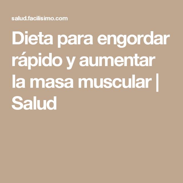 dieta semanal ganar masa muscular