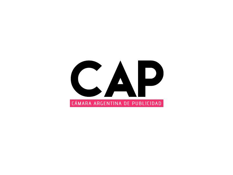 C.A.P.: Logo de la Cámara Argentina de Publicidad (CAP). Entidad que nuclea a agencias publicitarias de comunicación argentina.