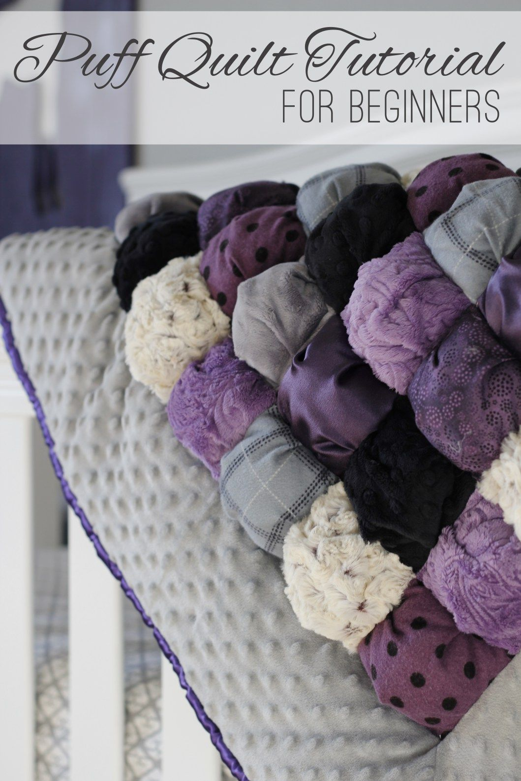 How to Sew an Easy Puff Baby Quilt | Biscuit quilt, Puff quilt and ... : baby puff quilt - Adamdwight.com