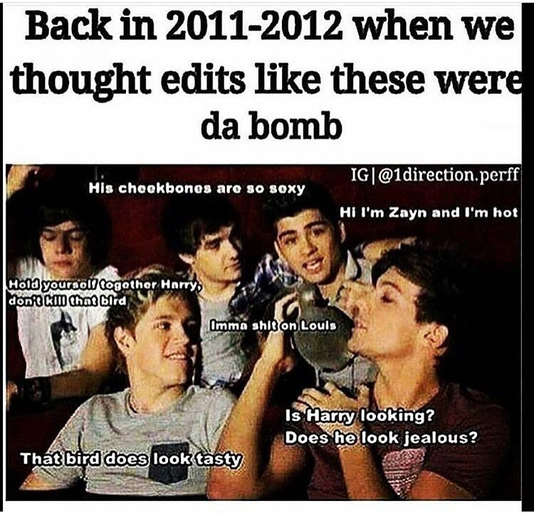 Those were the times | One direction memes, I love one ...