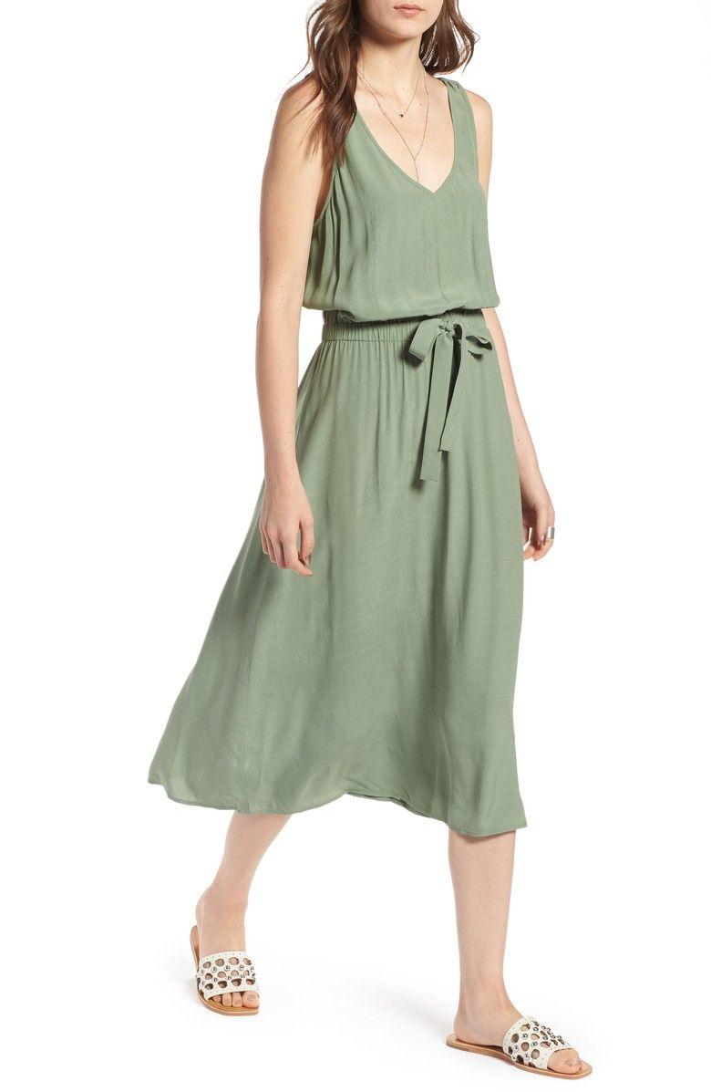 Treasure Bond Blouson Tank Midi Dress Nordstrom Dresses Nordstrom Dresses Fashion Capsule Wardrobe [ 1197 x 780 Pixel ]
