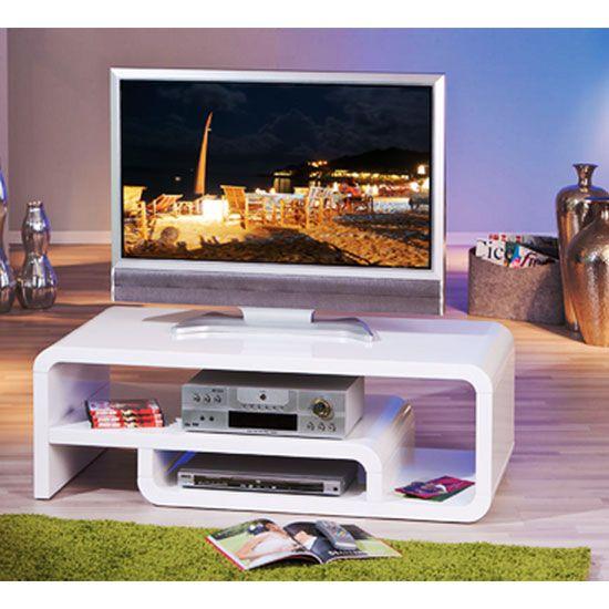 Lorenzo High Gloss Tv Stand In White   White Gloss Tv Unit, Tv Stands And  High Gloss