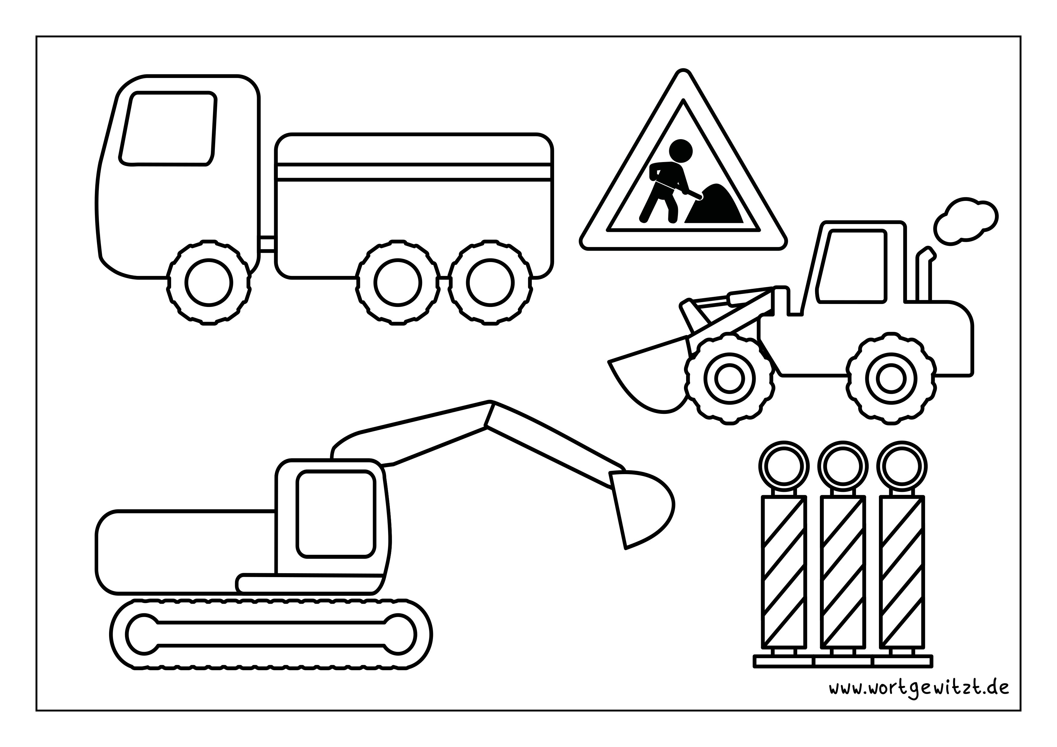 Ausmalbild Baustellenfahrzeuge Ausmalbilder Zum Ausdrucken Ausmalen Ausmalbild