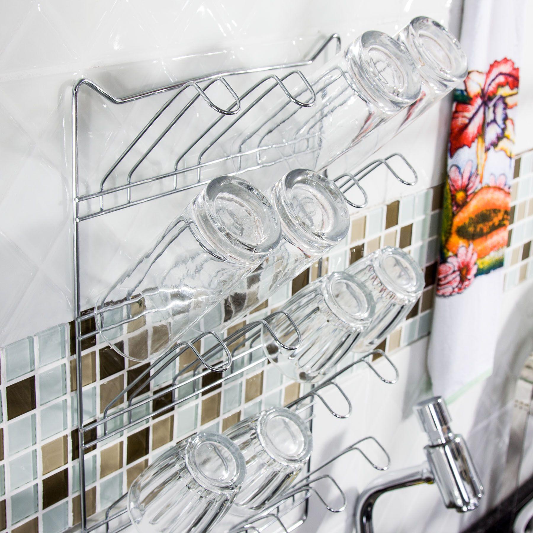 Escorredor de copos de parede | Casa - Cozinha | Pinterest