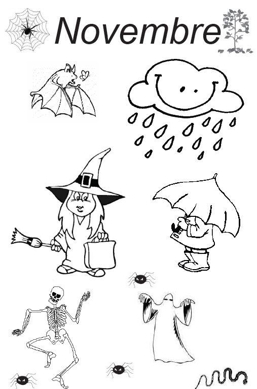 Hervorragend Thème Halloween mois d'octobre et novembre. - Activités pour la  LX63