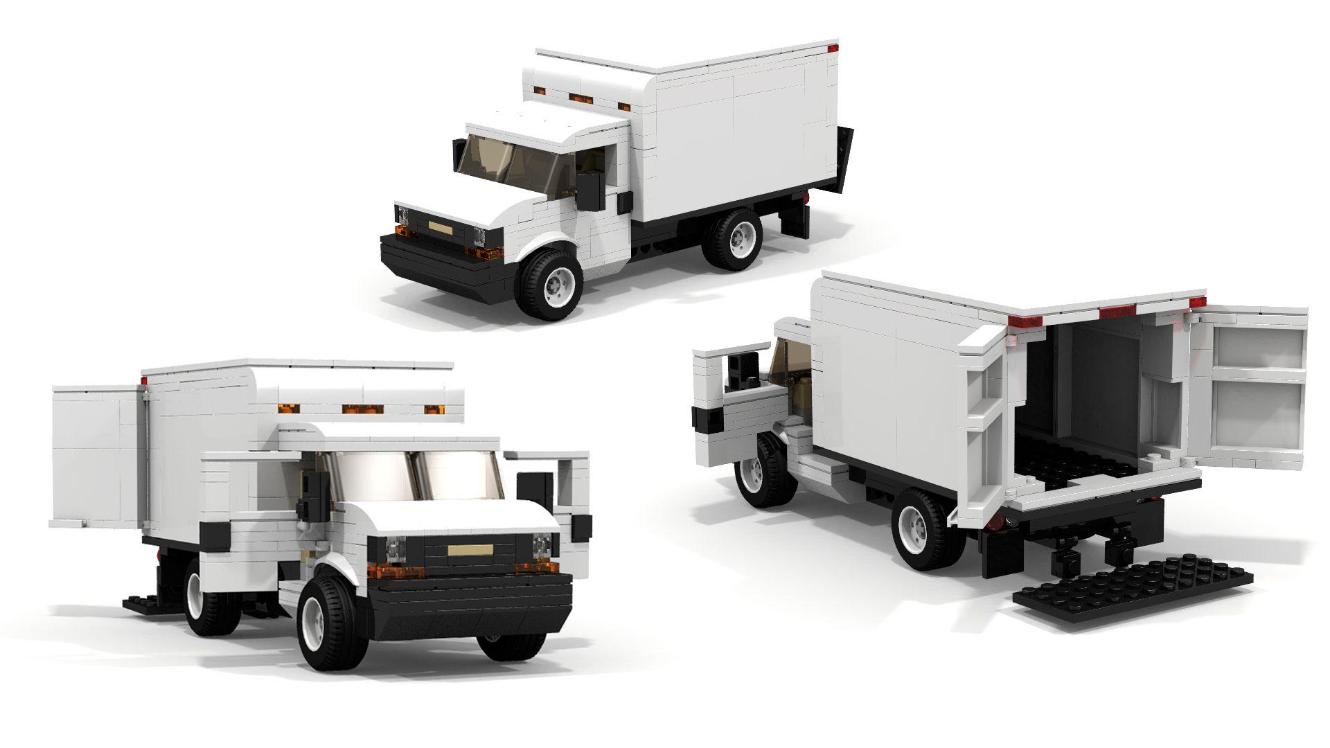 Lego Chevrolet Express Cargo Truck Moc Building Instructions Lego