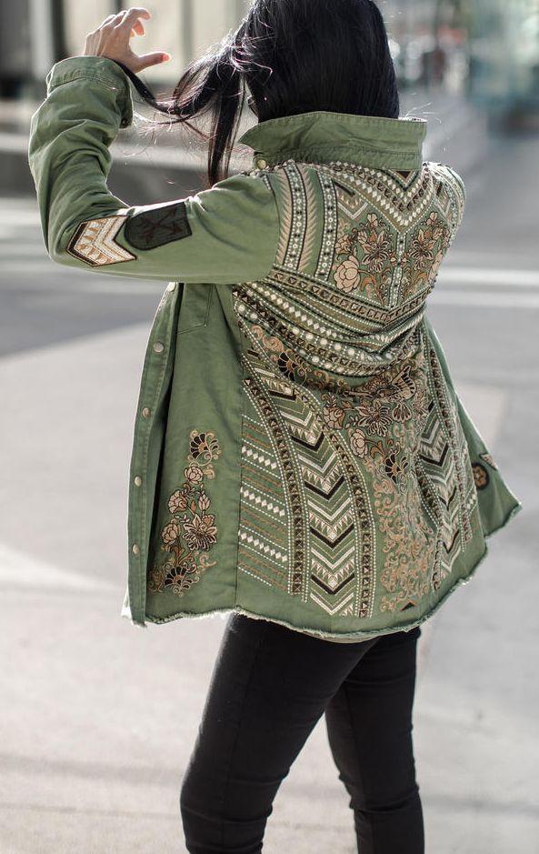 fashion, style, coat, green, black, female, | Abbigliamento