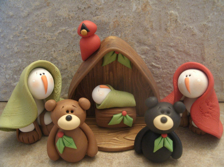 Snowman Nativity - So cute!