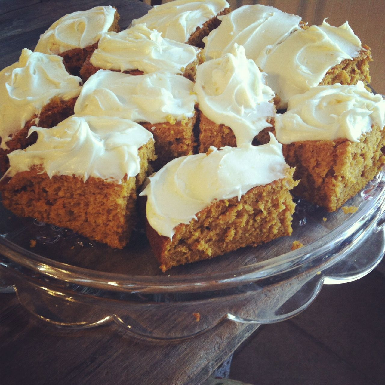 Pumpkin Bars from a Paula Deen recipe. | Food | Pinterest