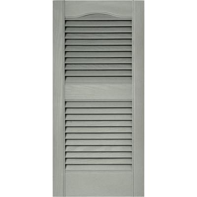 Builders Edge 15 In X 31 In Louvered Vinyl Exterior Shutters