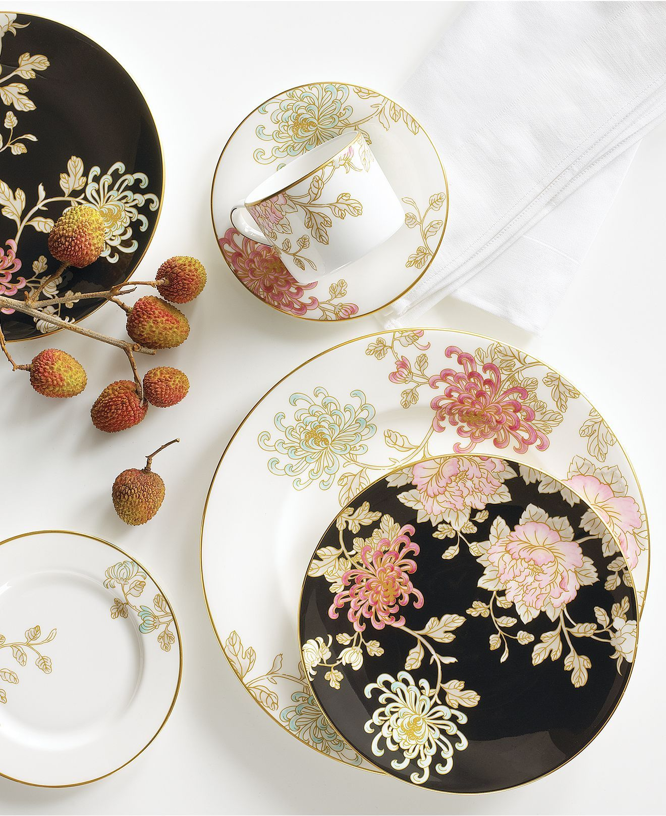Marchesa By Lenox Dinnerware, Painted Camellia Collection