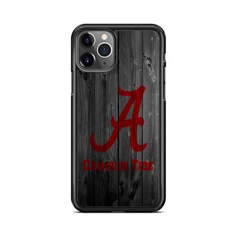 Alabama Crimson Tide Nfl Logo Dark Wood Wallpaper iPhone