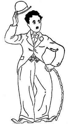 Charlie Chaplin Movie Mask 1924 Coloring Contest