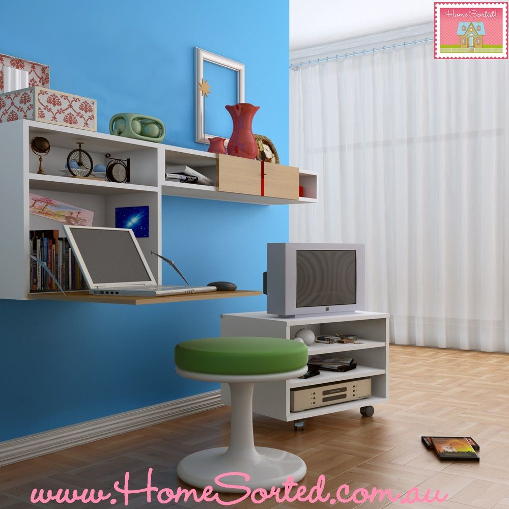 No desk - no problem! Simply hang a hinged shelf for your ...
