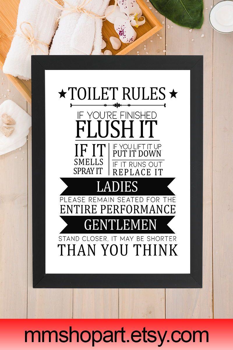 Toilet Bathroom Sign Toilet Door Sign Toilet Rules Sign Bathroom Rules Bathroom Sign Funny Toilet Sign Wc Bathroom Signs Funny Toilet Signs Toilet Rules