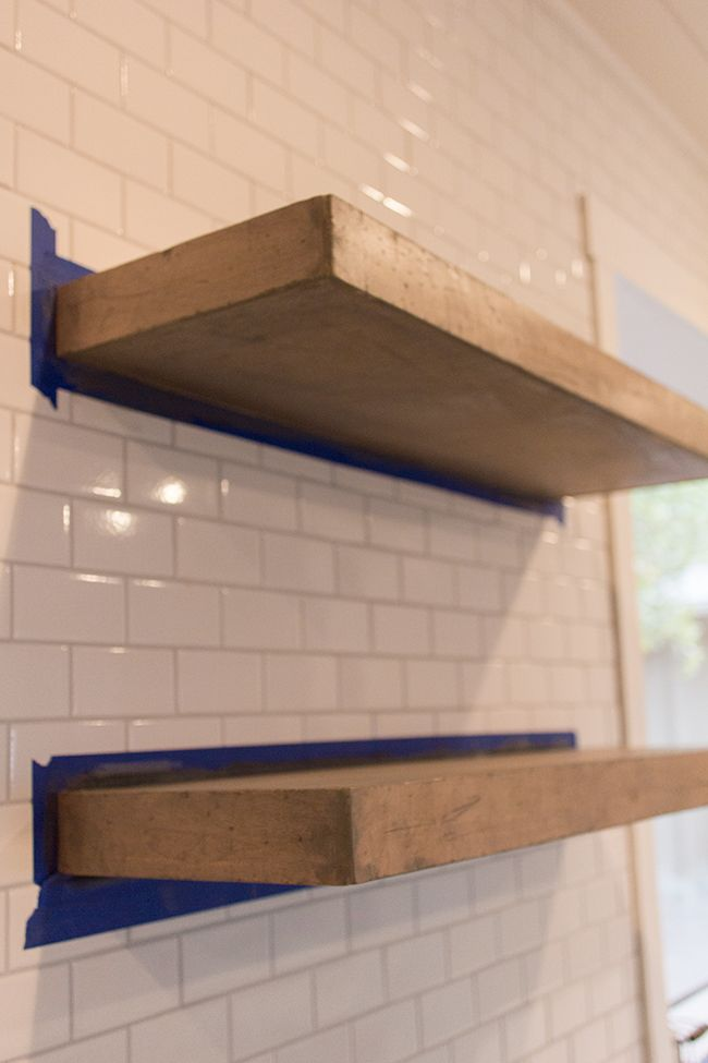 jenna sue kitchen chronicles diy floating rustic shelves rh pinterest com