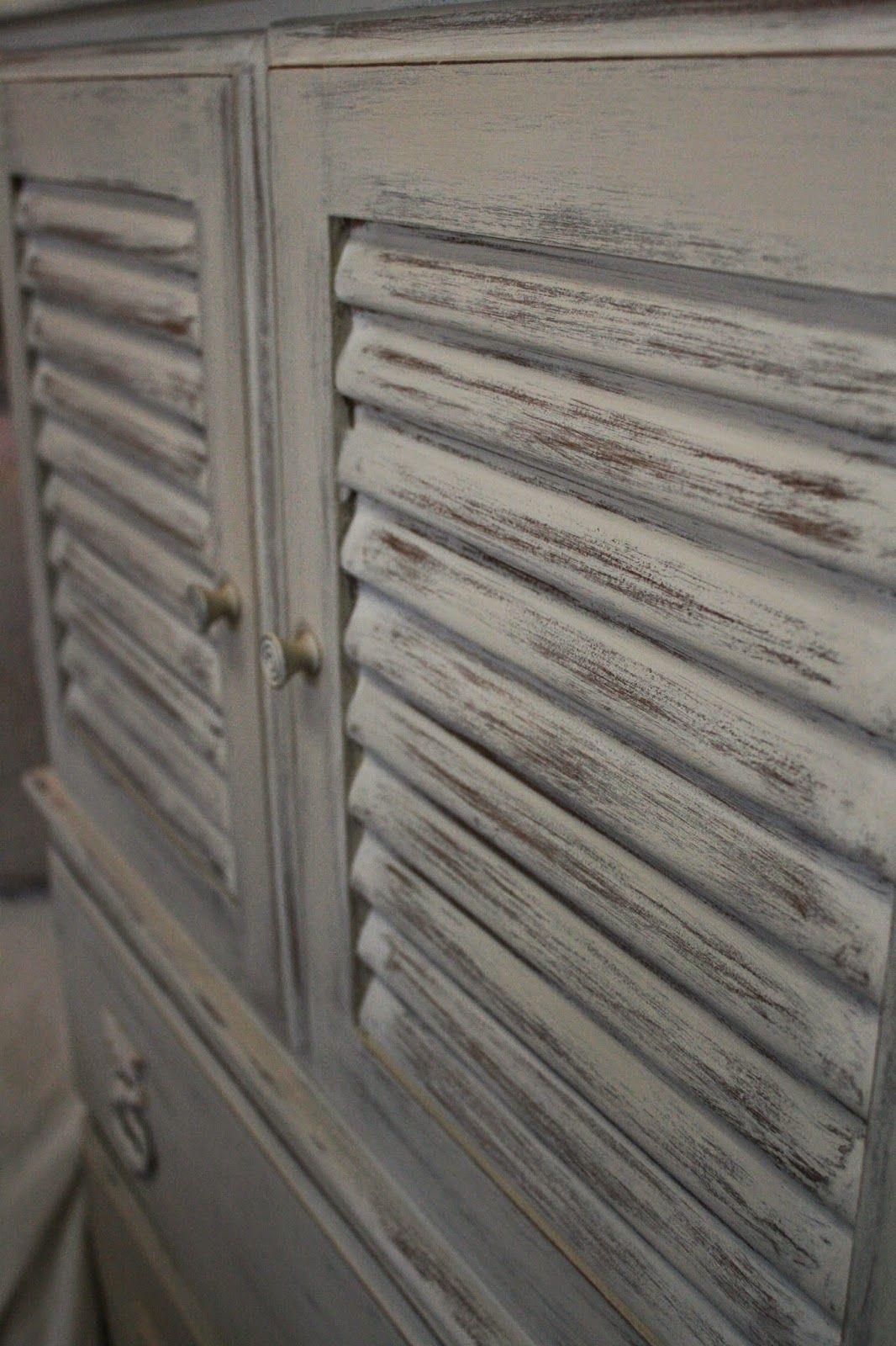 Louvered Door Dresser Painting Bathroom Annie Sloan Chalk Paint Inspiration Chalk Furniture