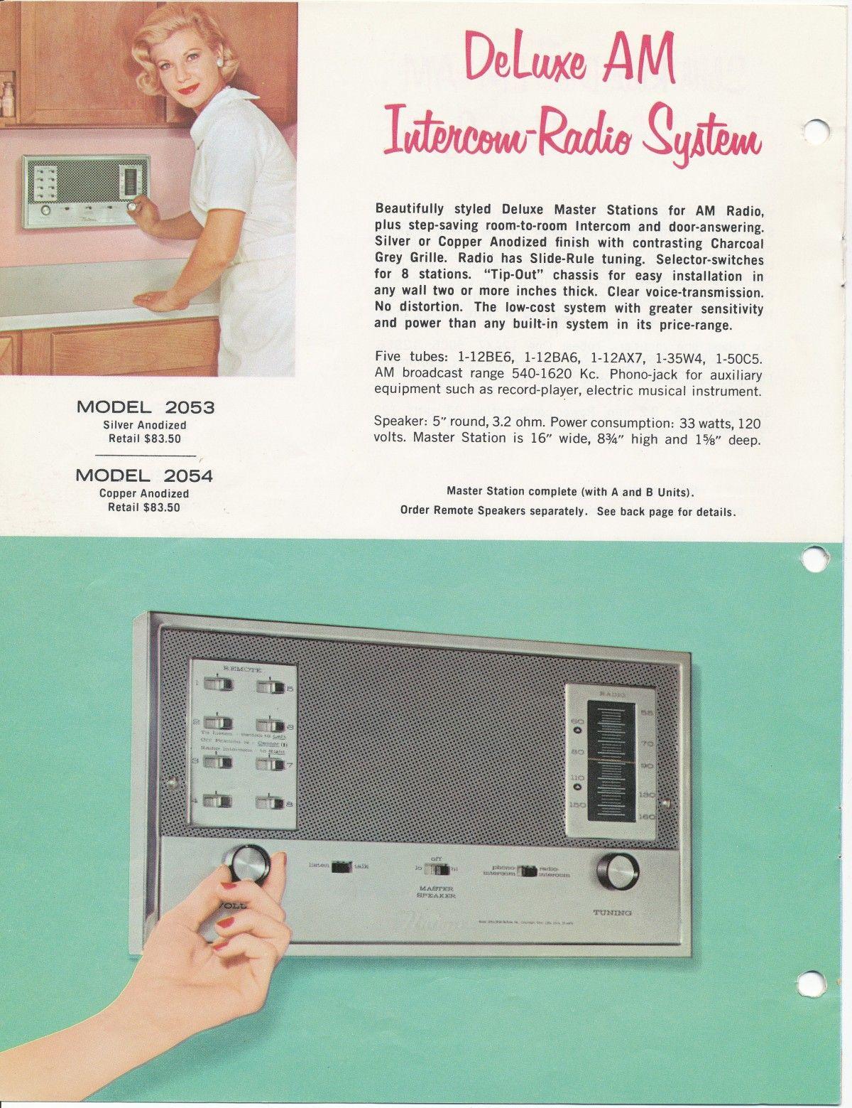 Vintage Intercom System Nutone Radio Catalog Simple Using Tree Transistors 1963 Built In