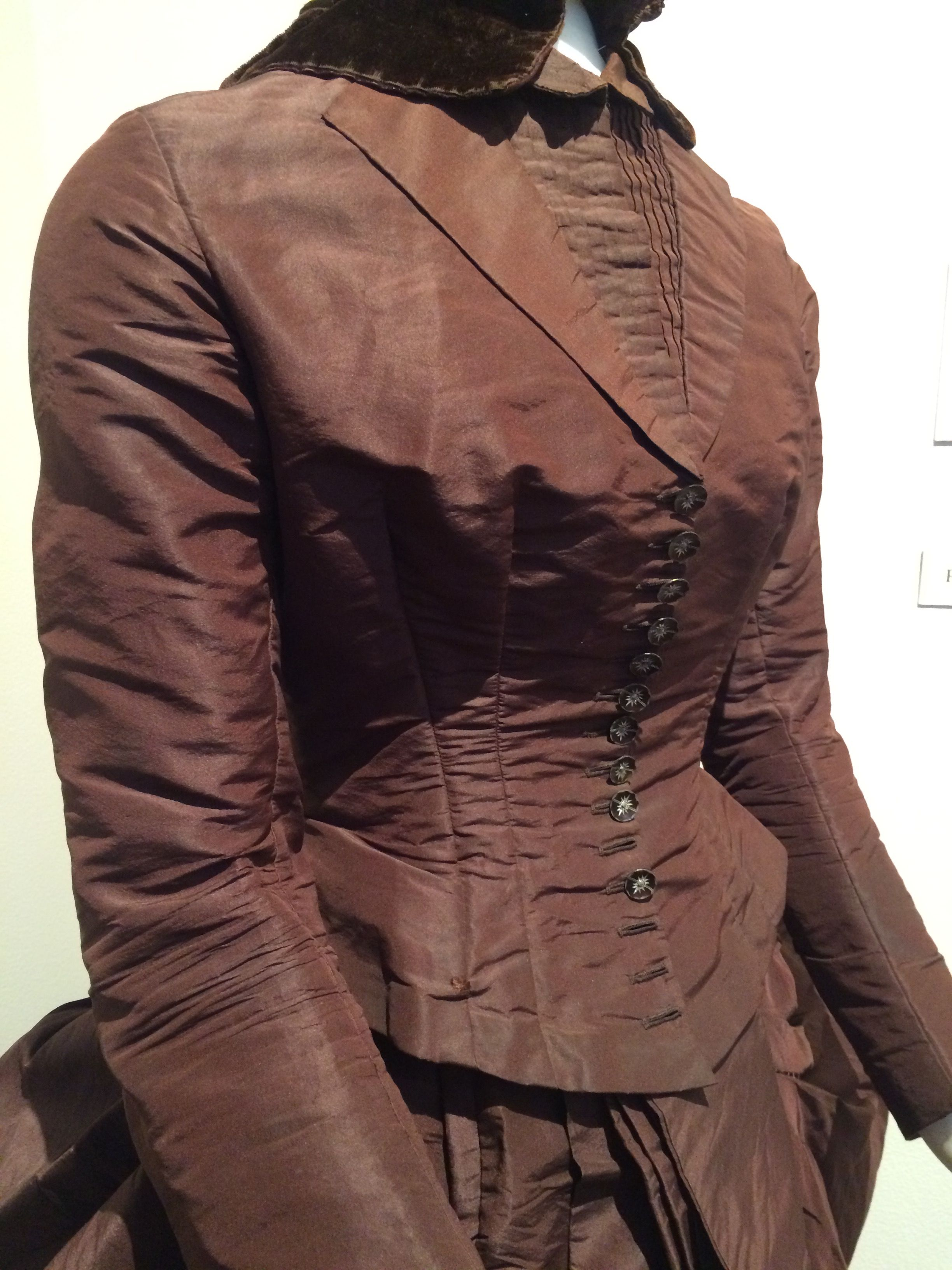 Wedding suit worn in 1887 by Rosa Moyer