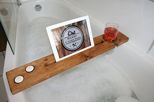 Bath Tray Bath Board Wooden Bath Caddy / Bath Bar Shelf W... https ...