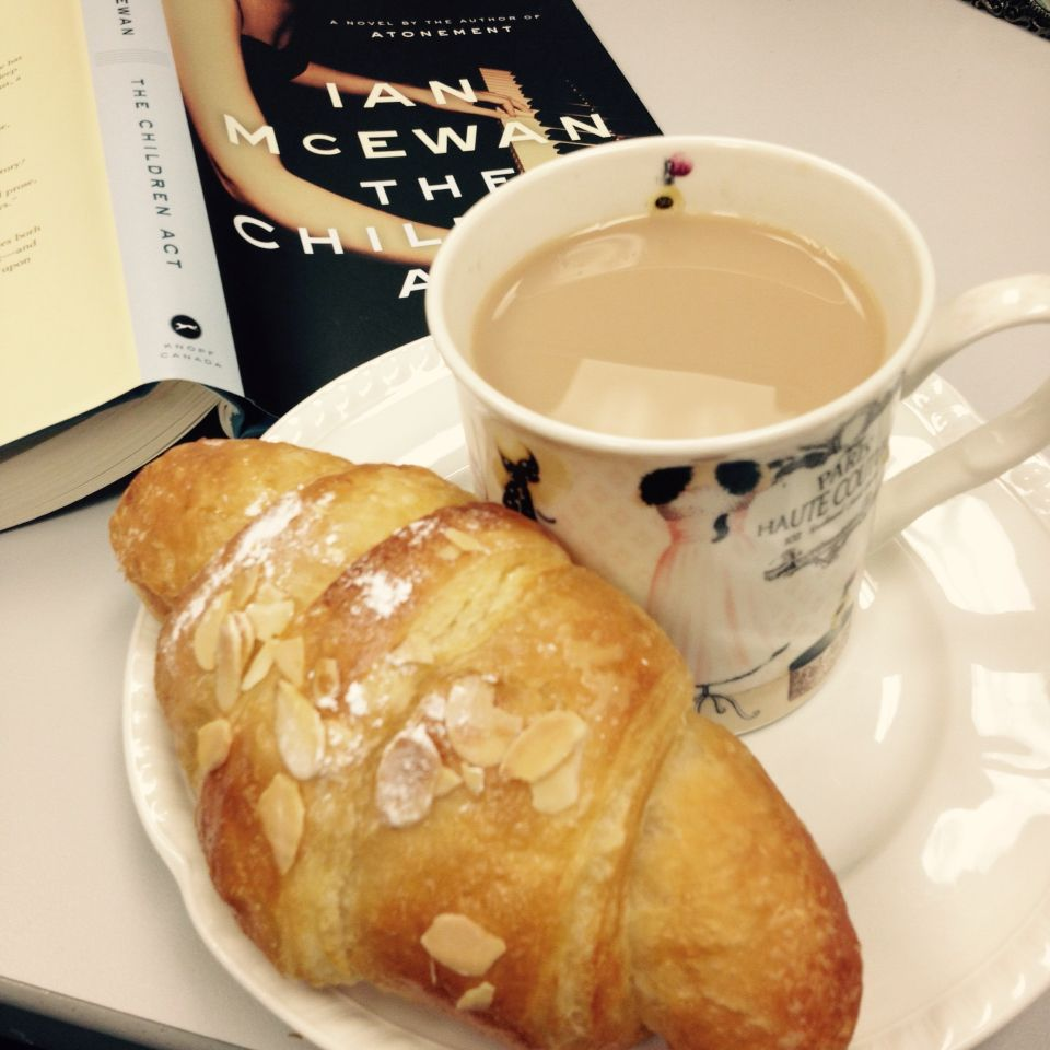 French croissant and a warm cup of tea! A lovely way to start my day. Thanks Denise