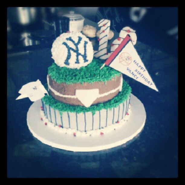 My brothers New york yankees cake bigbrother newyork yankees