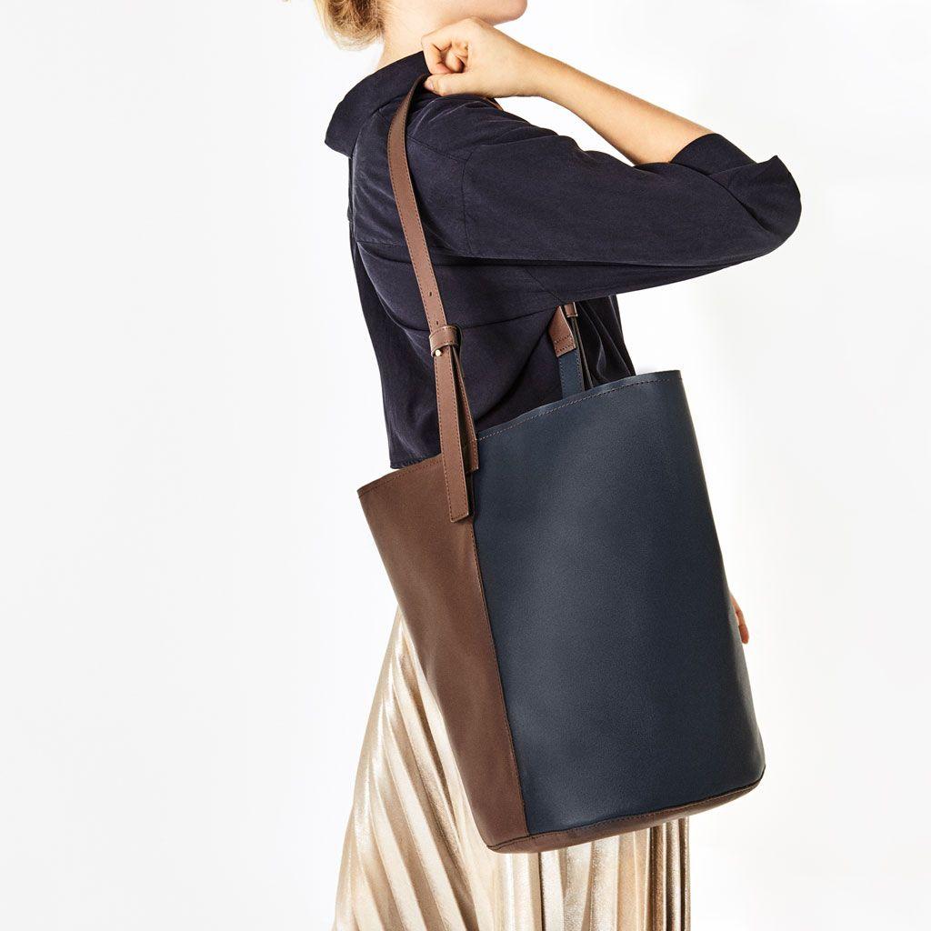 Mini leather tote bag zara - Tote Bag