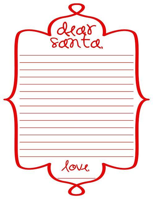 Free Printable Dear Santa Letter  Printables    Dear