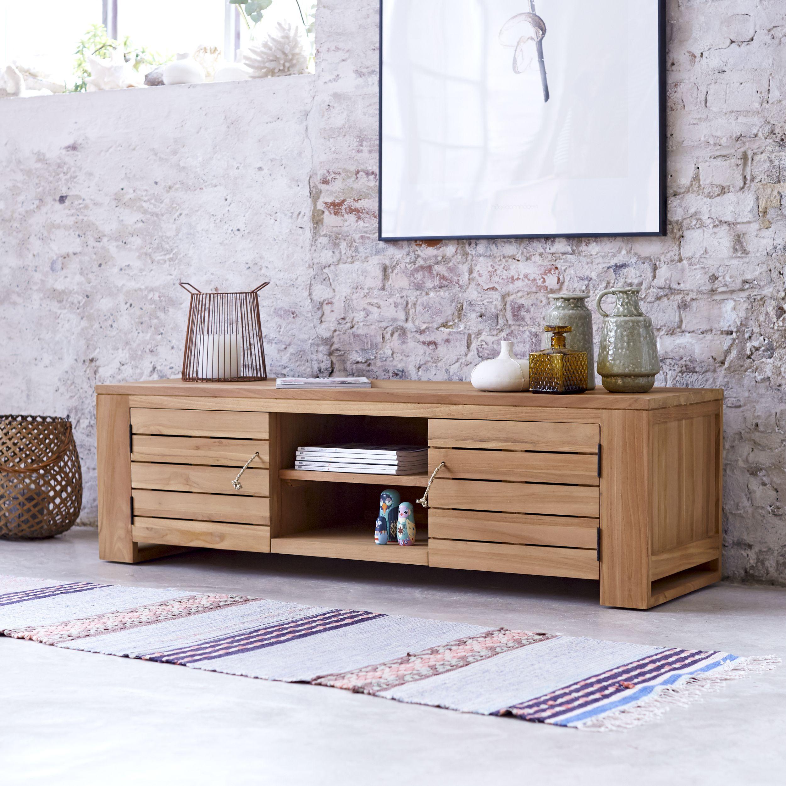 meuble tv en teck 135 cm meubles de