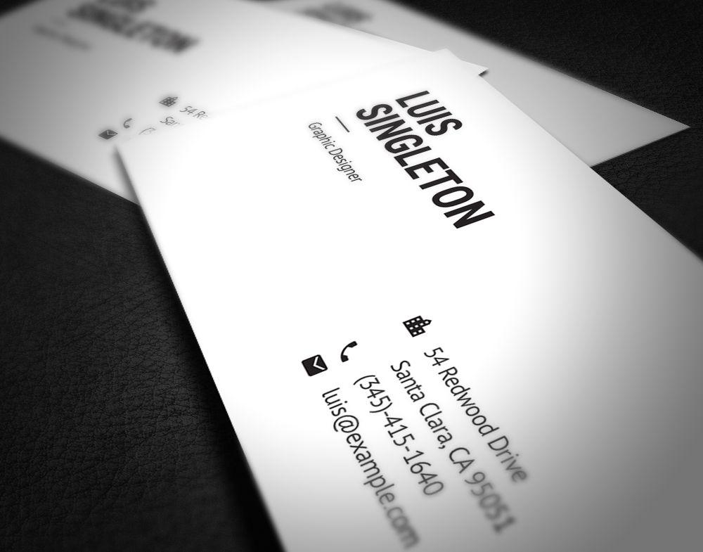 Einfache Visitenkarte Vorlage Psd Plus Business Card