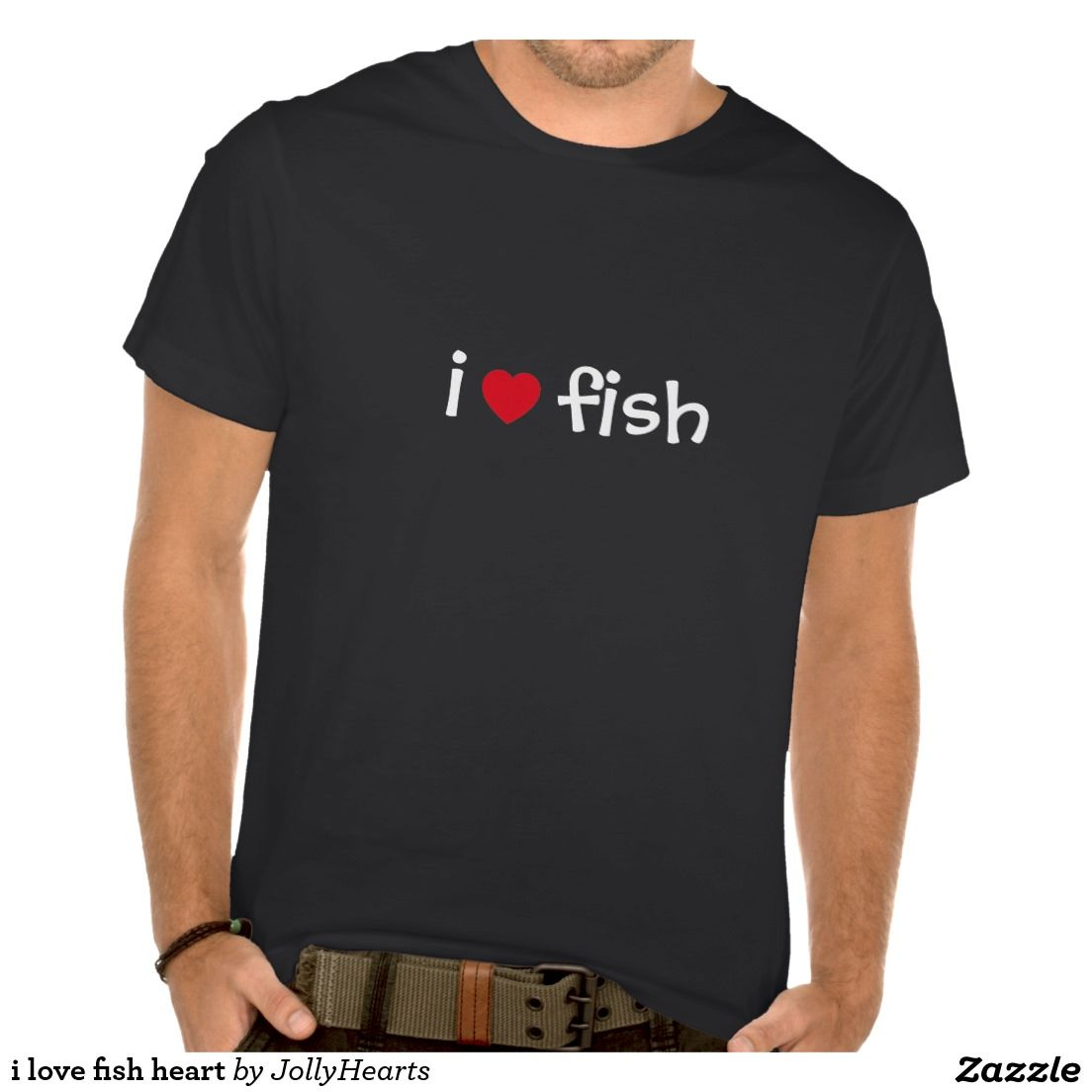 i love fish heart shirts for the hearty fisherman or seafood chef.